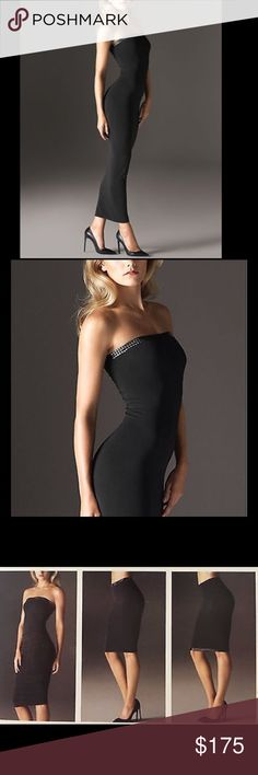 NWT WOLFORD FATAL DARLEEN BLACK TUBE DRESS Sz: L ❌❌NO OFFERS PLEASE❌❌  Glamorous version to a basic Fatal Dress featuring a sparkling decorative ribbon   Can be worn as a dress with sparkling neckline, doubled up as a skirt with a sparkling waistband or as a skirt with the shimmering ribbon at the hem  Seamless knit technology Soft velvet material   COLORS: Black SIZE: Large (Size Chart Shown in Photos)  RETAIL: $295  BRAND NEW IN ORIGINAL BOX WITH TAGS ATTACHED *Box may show shelf/store…