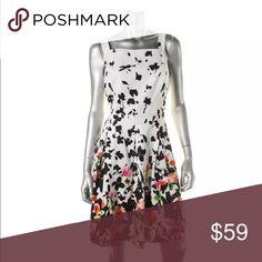American living B/W Floral Print Box Pleat size 18 American living B/W Floral Print Box Pleat Casual Dress Plus 18. Beautiful Dress! American Living Dresses Midi
