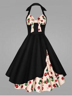 XL, Green Flora VINDOOXI Womens 1950s Retro Vintage Cap Sleeve Party Mesh Rim Swing Dress