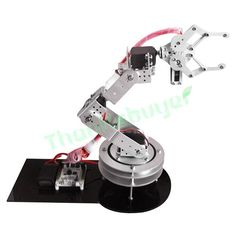 87.07$  Watch now - http://ali6e4.shopchina.info/go.php?t=32660292754 - Aluminium 6 DOF Robotic Robot Arm Clamp Claw Mount Kit with 6PCS MG996R Servo & Servo Horn -Silver  #buychinaproducts