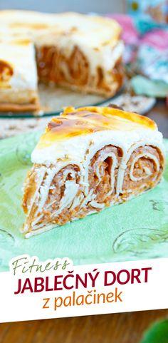 Fitness jablečný dort z palačinek - zdravý recept / Fitness apple cake from pancakes - healthy recipe by Bajola Vanilla Cake, Cookie Recipes, Good Food, Food And Drink, Cakes, Desserts, Tailgate Desserts, Cake, Dessert