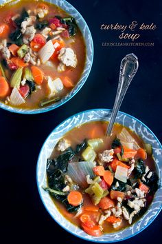 #GF #DF Turkey Kale Soup from Lexi's Clean Kitchen