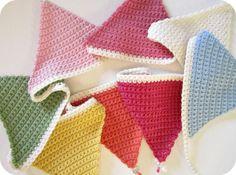 Pink Milk: Crochet Bunting Tutorial