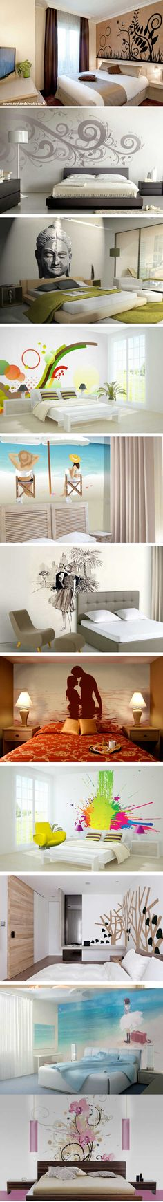 Projects of painted walls to decorate rooms, either for hotels, or else … - The source of information passes through us Design Art, Decoration, Sweet Home, Diy Projects, Room Decor, Painted Walls, Baby Cakes, Décor Ideas, Ceilings