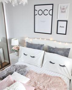 Dream rooms, dream bedroom, home bedroom, bedroom decor, bedroo Room Ideas Bedroom, Home Bedroom, Bedroom Wall, Girls Bedroom, Bedroom Decor, Wall Decor, Young Adult Bedroom, Grey Bedrooms, Bedroom Prints