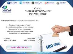 Mañana es el curso de la norma #ISO9001:2008 ¡Inscríbete! http://www.sincal.org/cursos-de-capacitacion-iso9001.html