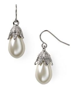 pearl and crystal dropped earings