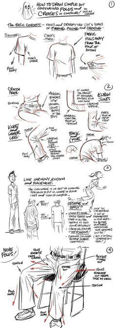 Fabric Folds Drawing Tutorial | Circolo d'Arti | Scoop.it