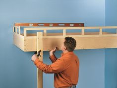 Decorate your room in a new style with murphy bed plans Build A Loft Bed, Loft Bed Plans, Murphy Bed Plans, One Room Flat, Fold Up Beds, Modern Murphy Beds, Murphy Bed Ikea, Bed Back, Decorate Your Room