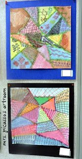 2nd Grade Pattern lesson- crazy quilts