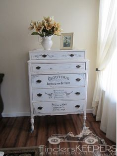 Antique Vintage Handpainted Shabby Chic by finderskeepersnevada, $800.00 This piece has been Sold... I can re-create a different design or color on another piece of furniture..I can be found on facebook finderskeepersnevada