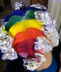 Rainbow hair dying tutorial
