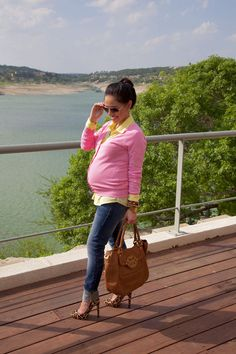 Maternity Fashion- Pink Lemonade (27 Weeks)