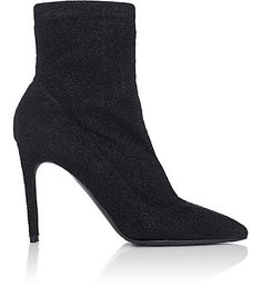 We Adore: The Lula Sock-Style Metallic-Knit Ankle Boots from Barneys New York at Barneys New York