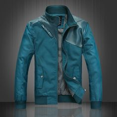 Contemporary Faux Leather Hybrid Jacket from Urbanstox.