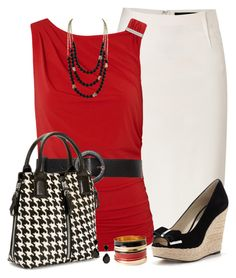 """""""Houndstooth Bag"""" by daiscat ❤ liked on Polyvore"""