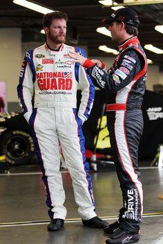 Dale Earnharht Jr. & Jeff Gordon