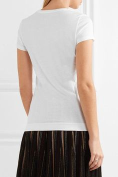 Adam Lippes - Pima Cotton T-shirt - White - x small