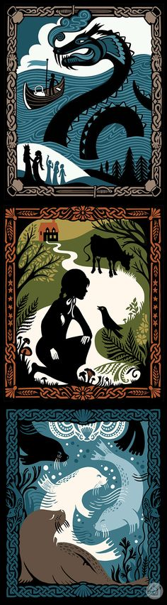 Each story in Celtic Tales is brought to life with elegant silhouette art by Kate Forrester.