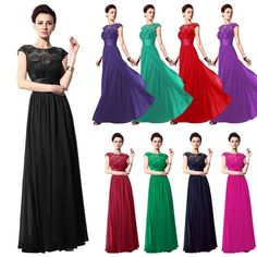Lace Top Long Prom Evening Dresses Bridesmaid Wedding Party Bride Mother Gowns #Unbranded #Maxi #Formal