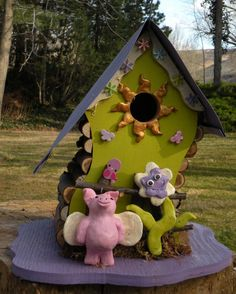 When Pigs Fly 2 Birdhouse By Papajonsflyinns On Etsy, $45.00