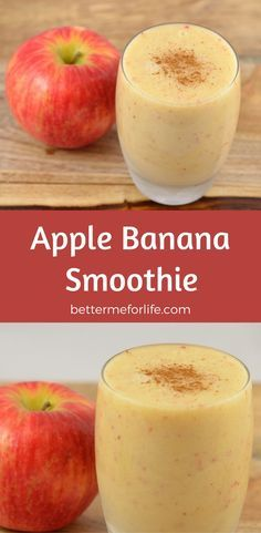 simple and refreshing smoothie, this apple banana smoothie is a delightful pick-me-up with loads of vitamins, minerals, and fiber. Find the recipe on apple smoothie smoothies healthy smoothies smoothie recipes smoothies for Weight Loss Smoothie Recipes, Best Smoothie Recipes, Nutribullet Recipes, Blender Recipes, Shake Recipes, Protein Smoothies, Smoothie Drinks, Breakfast Smoothies, Vegetable Smoothies