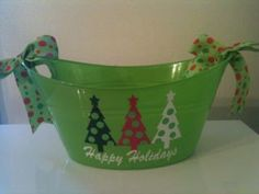 Christmas bucket by PunkieDoodles on Etsy, $7.95