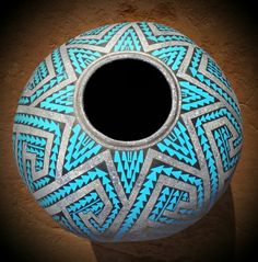by Arturo J. Ramirez. Southwest Pottery, Decorative Gourds, Gourd Art, Native American Art, Artist At Work, Wood Carving, Projects To Try, Art Pieces, Goose Creek