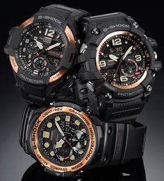 CASIO G-SHOCK Master Of G Watches In 'Vintage Rose Gold Theme'  Hot new release up now on aBlogtoWatch: http://www.ablogtowatch.com/casio-g-shock-master-of-g-watc…/
