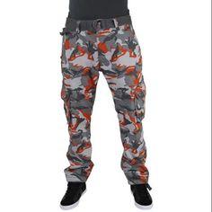 Jordan Craig Men's Urban Camo Cargo Pants Straight Leg Size 36x32