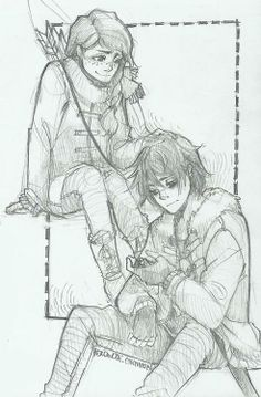 nico and bianca di angelo ---> look how pretty Bianca is!
