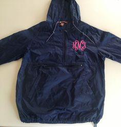 Monogrammed+Rain+Jacket+por+TheSouthernMonogram+en+Etsy,+$45,00