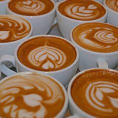 Latte art by Dritan Cofee Shop, Coffee Photos, Latte Art, Coffee Art, Coffee Recipes, Paintings, Cooking, Food, Coffee
