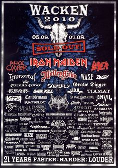 Concert Flyer, Concert Posters, Music Posters, Iron Maiden Mascot, Cool Album Covers, Open Air, Festival Flyer, Best Albums, Poster Pictures