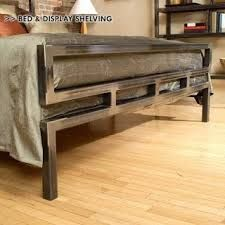 Classic Boltz Bed Frame by Boltz Welded Furniture, Iron Furniture, Steel Furniture, Custom Furniture, Furniture Design, Industrial Bed, Industrial Furniture, Steel Bed Frame, Wood Steel