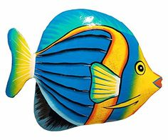 Hand-chiseled and Painted Tropical Metal Art Wall Decor Fish Colorful Fish, Tropical Fish, Ceramic Fish, Fish Crafts, Fish Patterns, Nautical Art, Fish Art, Art Wall Kids, Beach Art