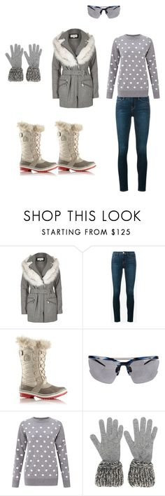 """all good"" by nihadniks ❤ liked on Polyvore featuring beauty, River Island, Frame, SOREL, Linda Farrow and Chanel"
