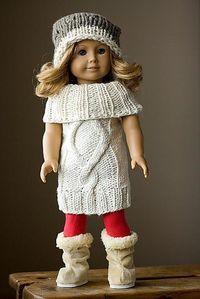 American Girl Doll Sweaterdress and Cardigan Bundle
