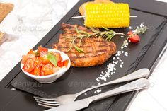 Grilled steak with sauce and greens  ...  Cutlet, Filet, appetizers, background, barbecue, barbeque, beef, boiled, chop, chops, cooked, delicious, diet, dining, dinner, dish, eat, eating, fast, fillet, food, fried, fry, grill, grilled, loin, lunch, meal, meat, object, one, plate, pork, restaurant, roast, roasted, sirloin, steak, steaks, tasty, veal, vegetable, vegetables