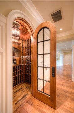 """If I had a board for """"Wow"""" this would be on it.  Wasn't sure where to pin it so....spectacular mini wine room"""
