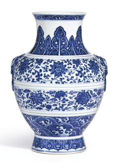 A BLUE AND WHITE VASE, ZUN<br>SEAL MARK AND PERIOD OF QIANLONG   lot   Sotheby's