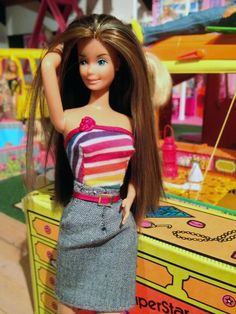 Barbie Superstar, i rerooted hair and made clothes :)