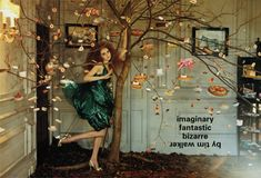 """thecoutureatelier: """" """"Imaginary Fantastic Bizarre"""" with Lily Cole Vogue Italia July 2005 Photographed by Tim Walker """" Lily Cole, Outdoor Photography, Art Photography, Whimsical Photography, Editorial Photography, Tim Walker Photography, Nothing But Flowers, Fashion Photography Inspiration, Photoshoot Inspiration"""