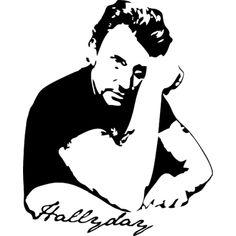 Sticker Johnny Halliday avec signature - Musique/chanteurs, groupes etc... - Destock-Stickers