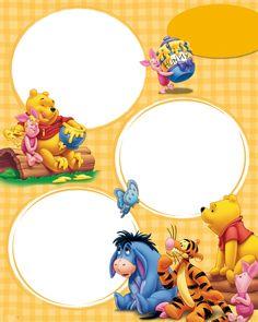 Winnie the Pooh and friends Disney Scrapbook, Baby Scrapbook, Scrapbook Cards, Scrapbooking, Cute Winnie The Pooh, Winnie The Pooh Friends, Disney Frames, Boarder Designs, Josi