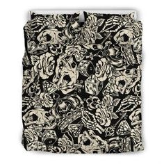Are you looking for unique bedding sets for adults? We got you covered. All of our bedding sets have unique designs such as gothic bedding sets, skull bedding sets and more. Our bedding sets are super-soft, comfortable, and perfect for any season. Each bedding set comes with a duvet cover and 2 pillow covers. Blue Bedding Sets, Queen Bedding Sets, Gothic Bed, Patterned Shorts, Bed Sheets, Pillow Inserts, Pillow Covers, Unique Bedding, Fabric