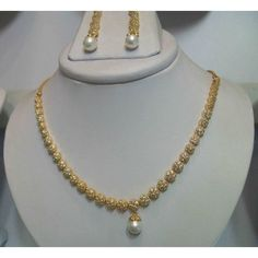 American Diamonds with Pearls Set (Artificial Jewellery)