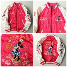 Vintage Kawaii DISNEY Mickey Minni Mouse Velvet Embroidery Sukajan Souvenir Jacket - Japan Lover Me Store