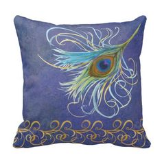 Peacock Dreams American MoJo Pillows