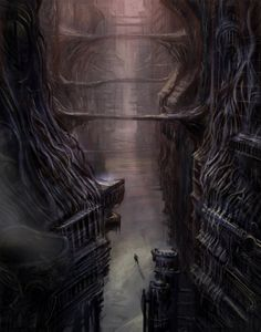 The Maze Runner fan art. I think this is a drawing of the griever room in The Maze Runner and The Death Cure